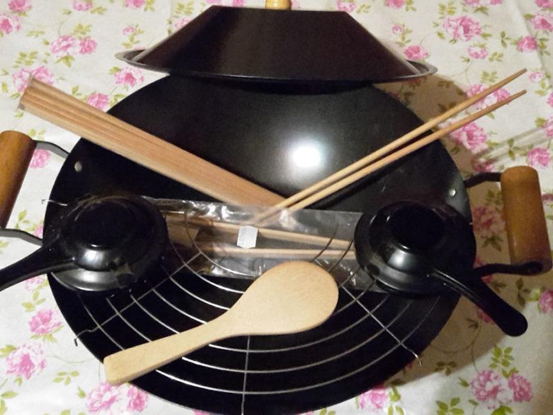 Neuwertiges Wok Set