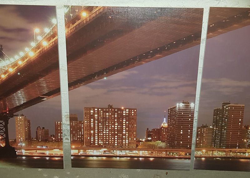 Modernes Wand-Collagenbild