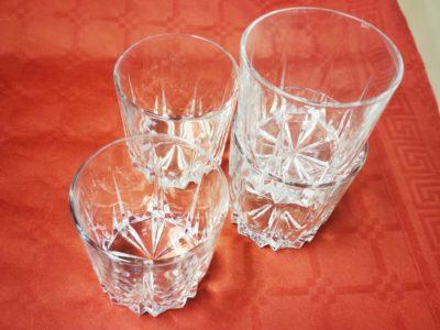 Trinkglas mit Muster (4 Stück)